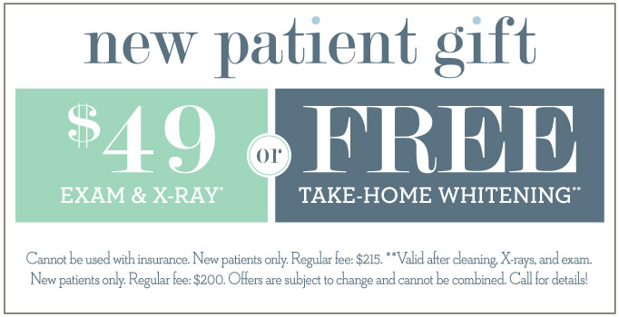 $49 Exams and X-Ray or Free Take-Home Whitening